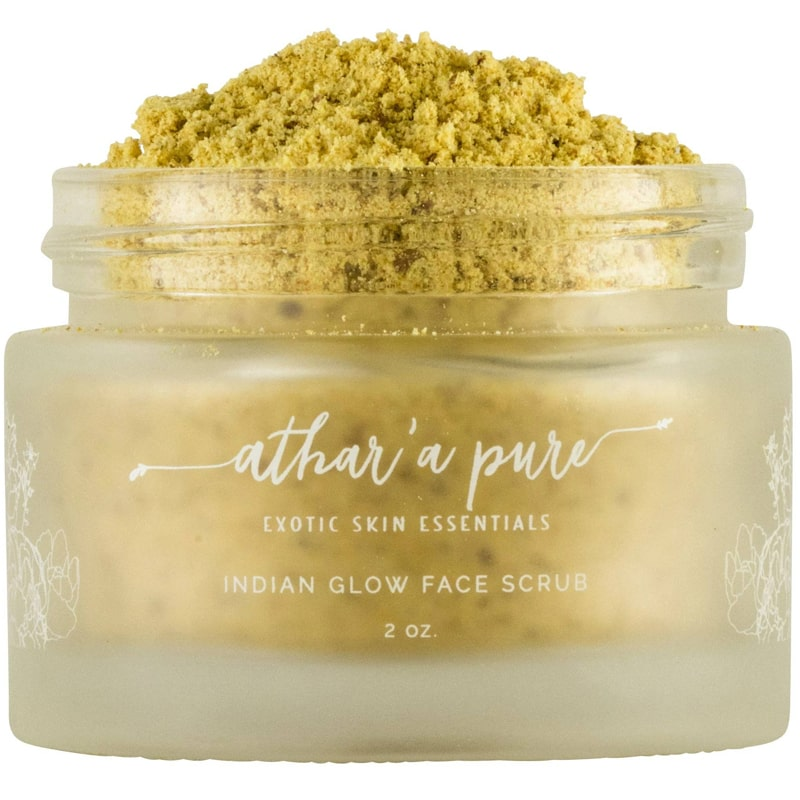 Athar'a Pure Indian Glow Face Scrub open jar