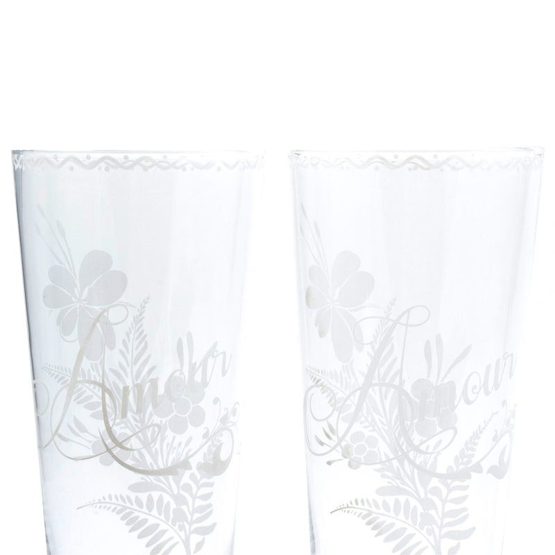 Leona d'Amour Highball Glasses close-up of 2 glasses