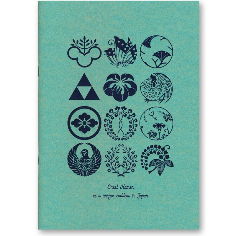 Hot Cool Tokyo Kamon Letterpress Notebook Mint (cover)