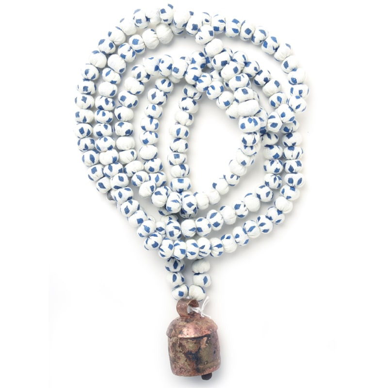 "Prayer and Decorative Beads Blue/White - Large (40"")"