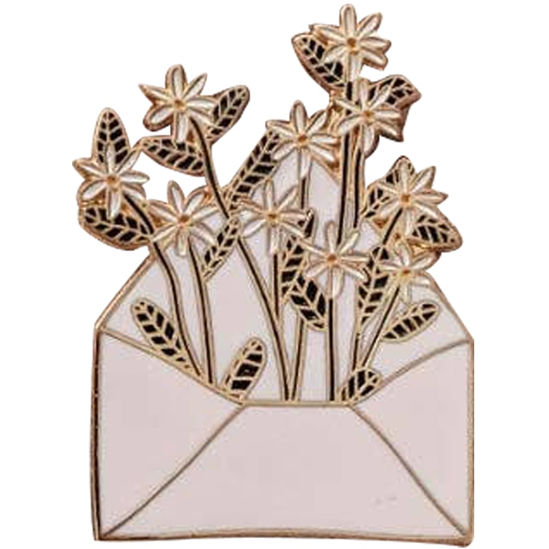 Mimi & August Letter Full of Flowers Enamel Pin (1 pc)