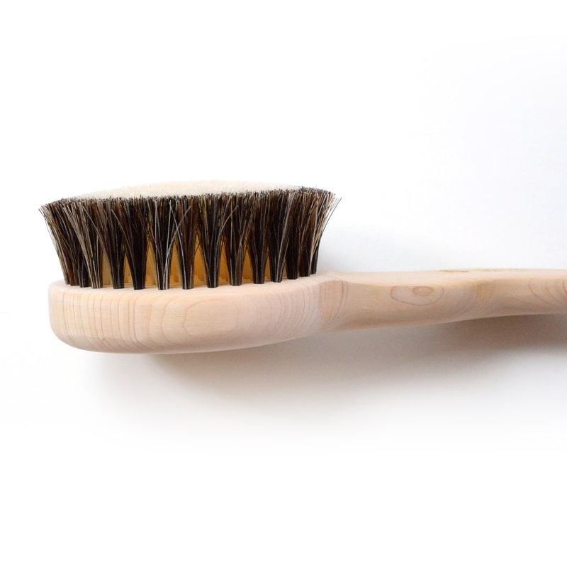 Shoji Works Short Handle Body Brush - side view