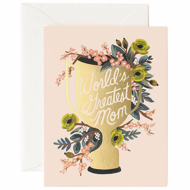 Rifle Paper Co. World's Greatest Mom Greeting Card