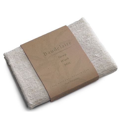 Baudelaire Hemp Wash Mitt (1 pc)