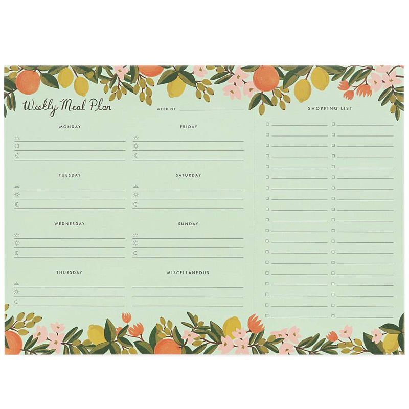 Rifle Paper Co. Citrus Floral Meal Planner