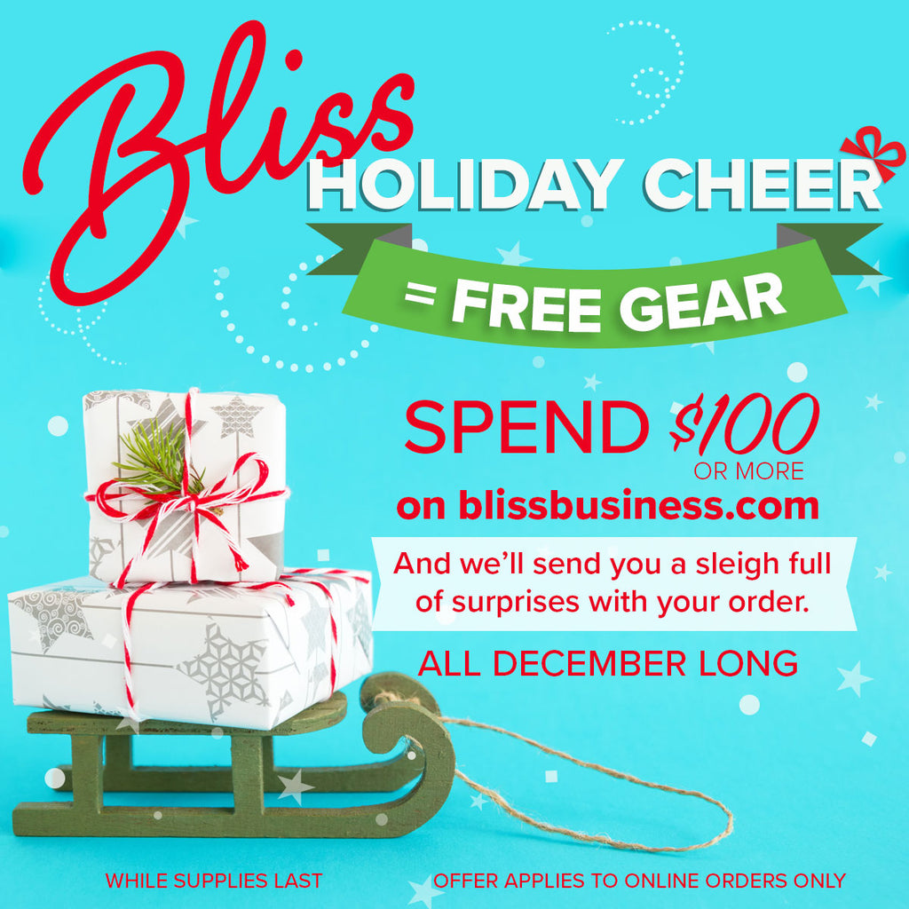 Bliss Holiday Cheer = Free Gear