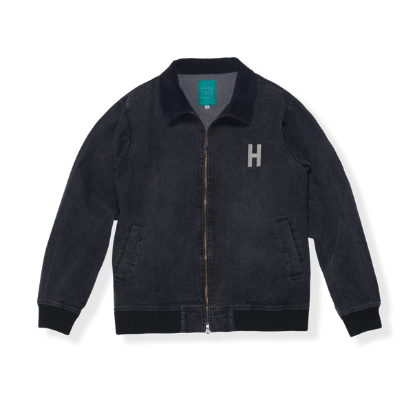 INYO WASHED DENIM JACKET - BLACK