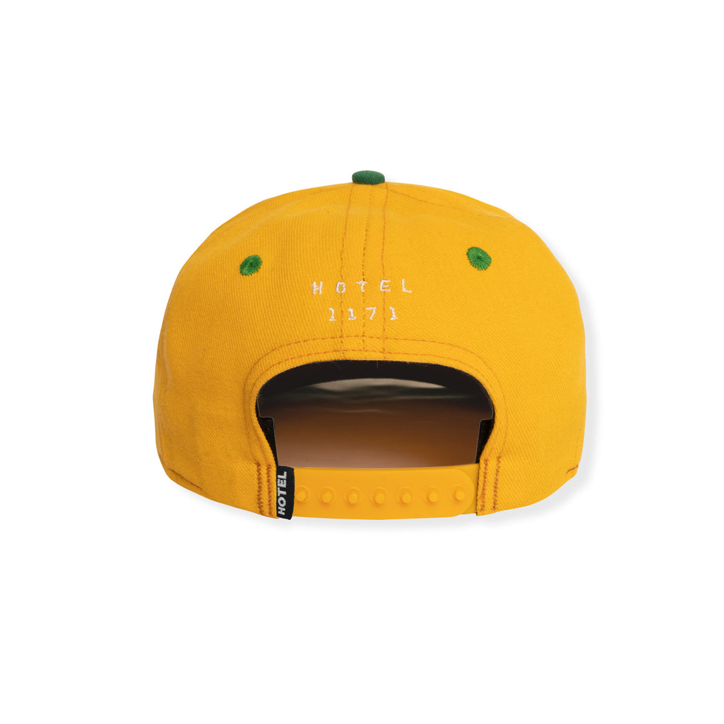 HOTEL H PALM PREMIUM SNAPBACK HAT - GOLD/GREEN