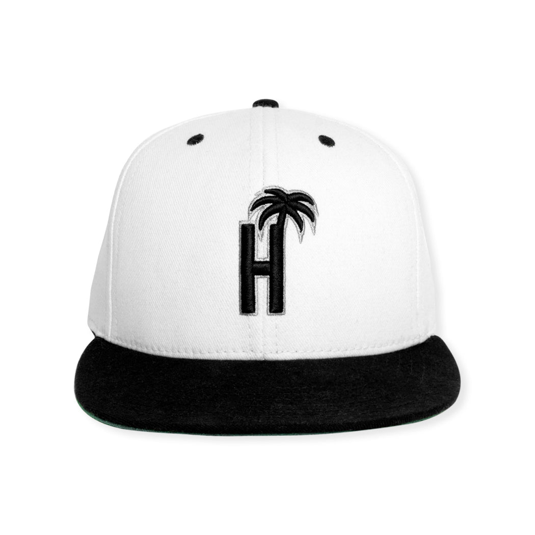 HOTEL H PALM PREMIUM SNAPBACK HAT - BLACK/WHITE