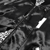 HOTEL CA Satin Jacket - Black/Cheetah