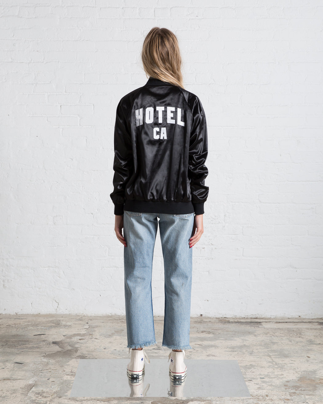 HOTEL CA Satin Jacket - Black/Cheetah (PRE-SALE)