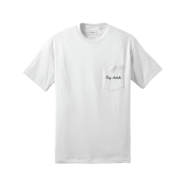 HOTEL 1171 StayAwhile Tee - White