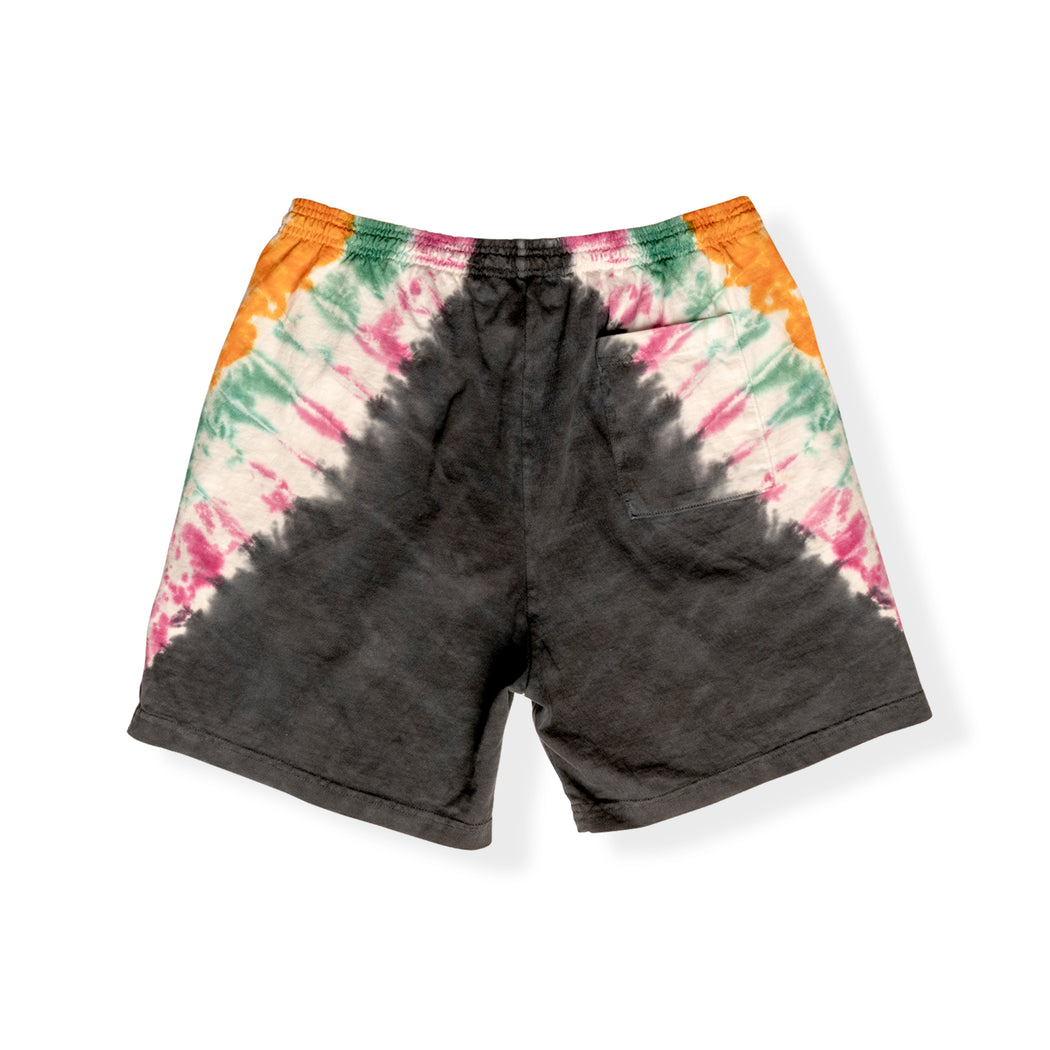 HOTEL 1171 - DAY TRIP TIE DYE SHORTS - BLACK