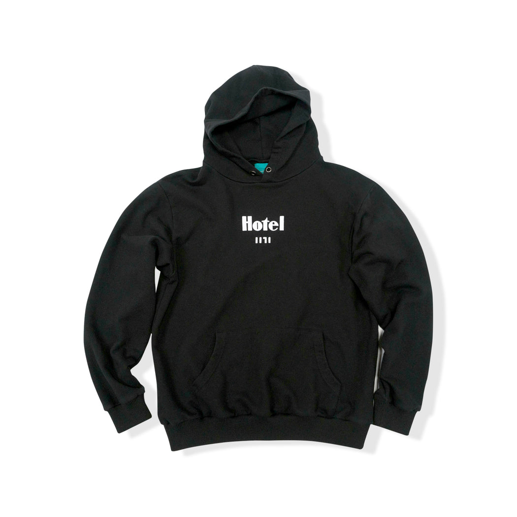 TIMELESS HOODED SWEATSHIRT - BLACK