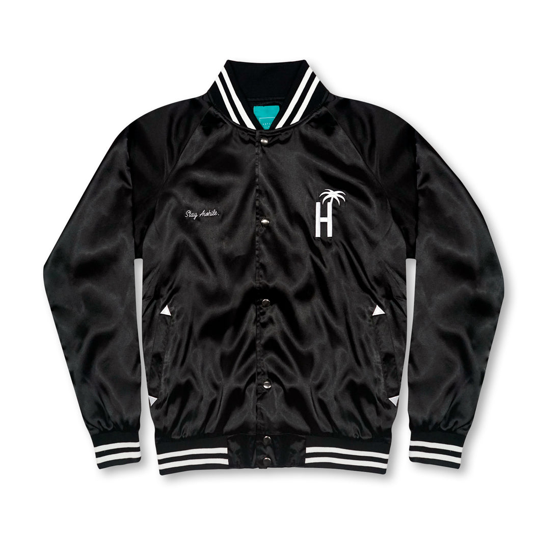 Varsity Palms Jacket - Black