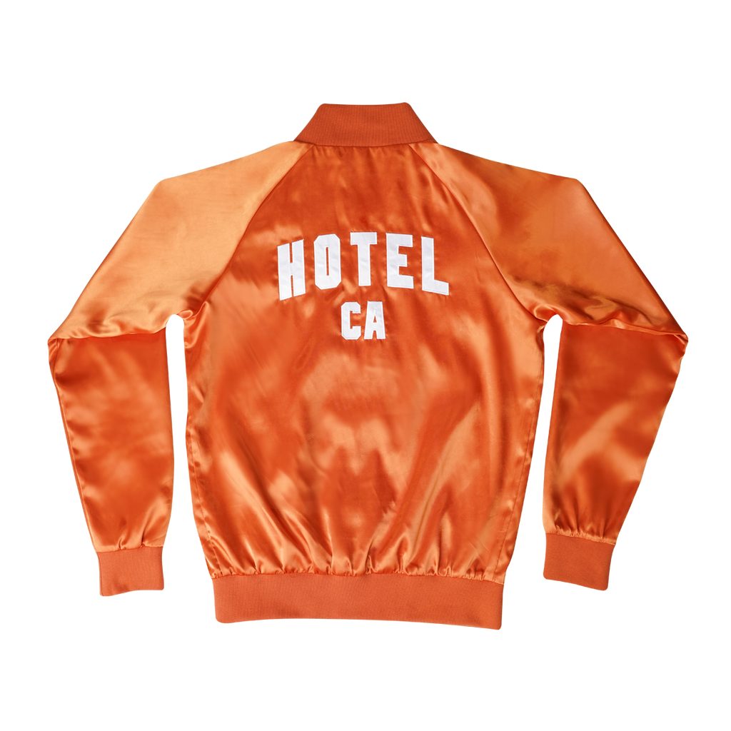 HOTEL CA Satin Bomber Jacket - California Poppy