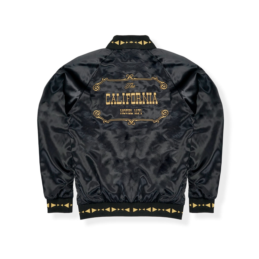 HOTEL 1171 SATIN CASINO JACKET - BLACK/YELLOW/GOLD