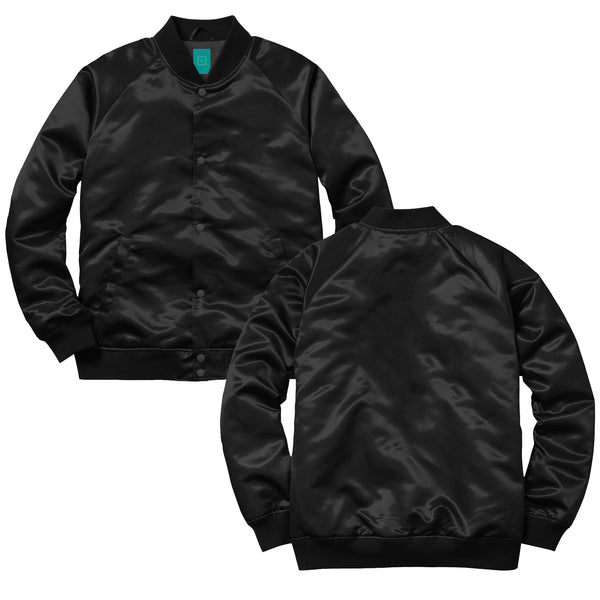 MYHOTEL Custom Satin Bomber - Black
