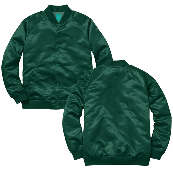 MYHOTEL Custom Satin Bomber - Emerald