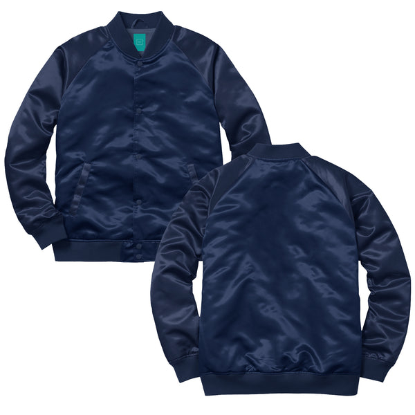 MYHOTEL Custom Satin Bomber - Navy