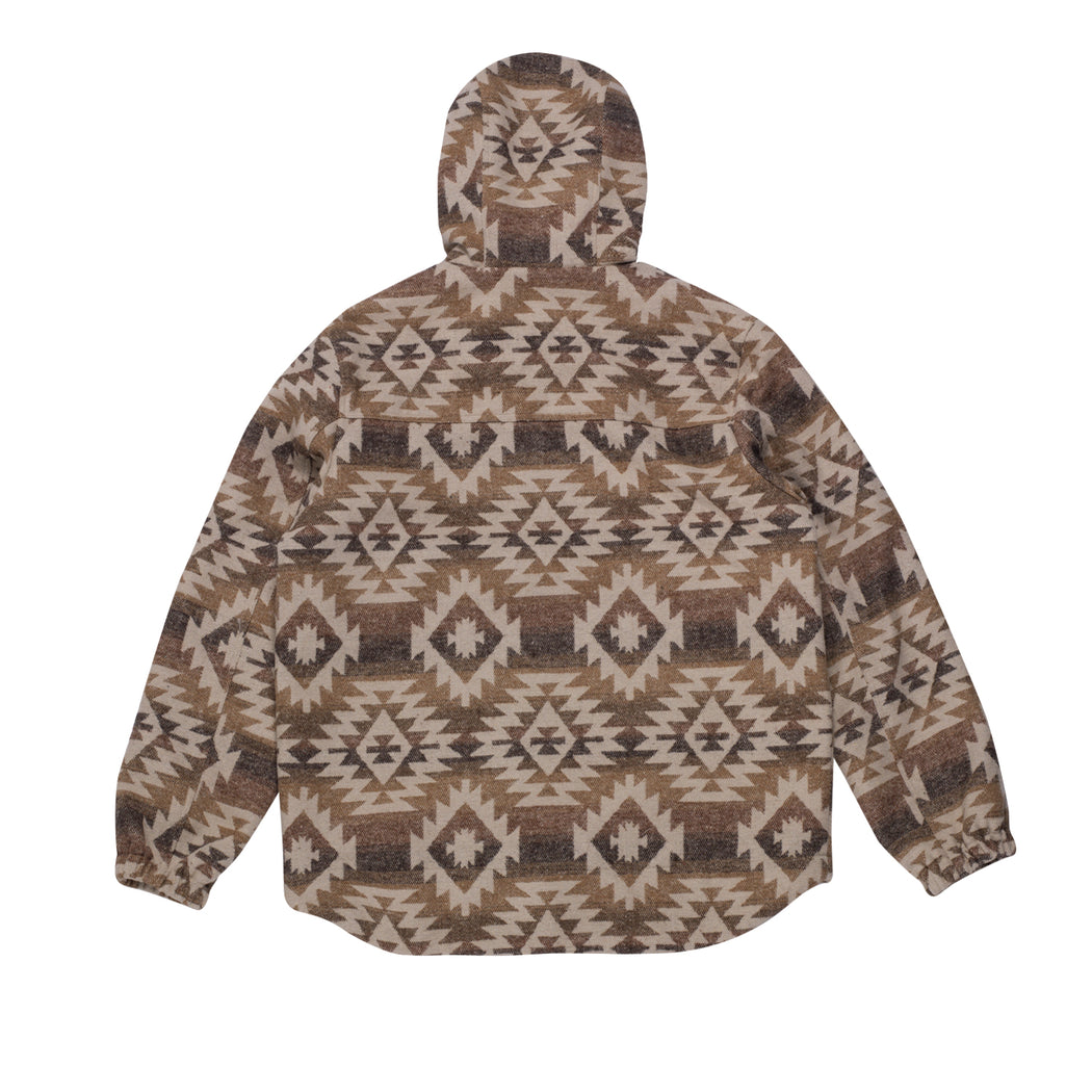 NOAH HALF ZIP PULLOVER JACKET - Brown