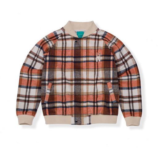 HOTEL 1171 SANTA FE FLANNEL JACKET - ORANGE/CREAM