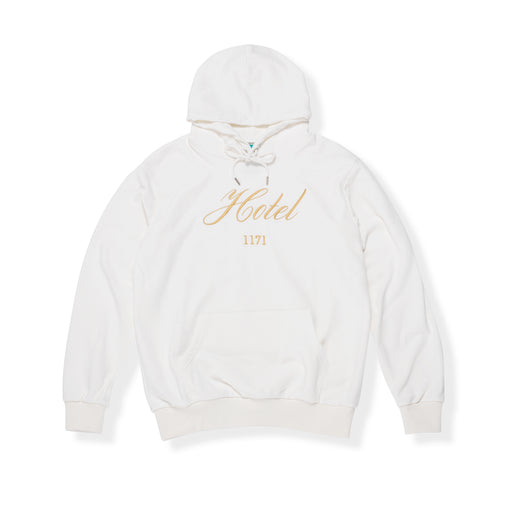 VACANCY HOODED SWEATSHIRT - WHITE/GOLD