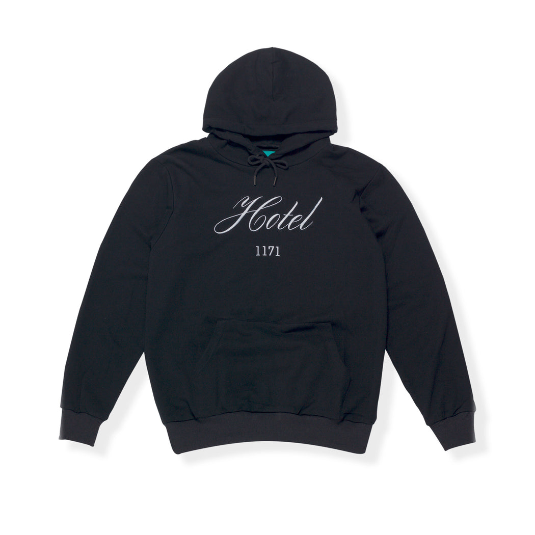 VACANCY HOODED SWEATSHIRT - BLACK/WHITE
