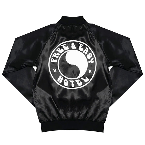 HOTEL x Free & Easy Satin Jacket - Black/YingYang
