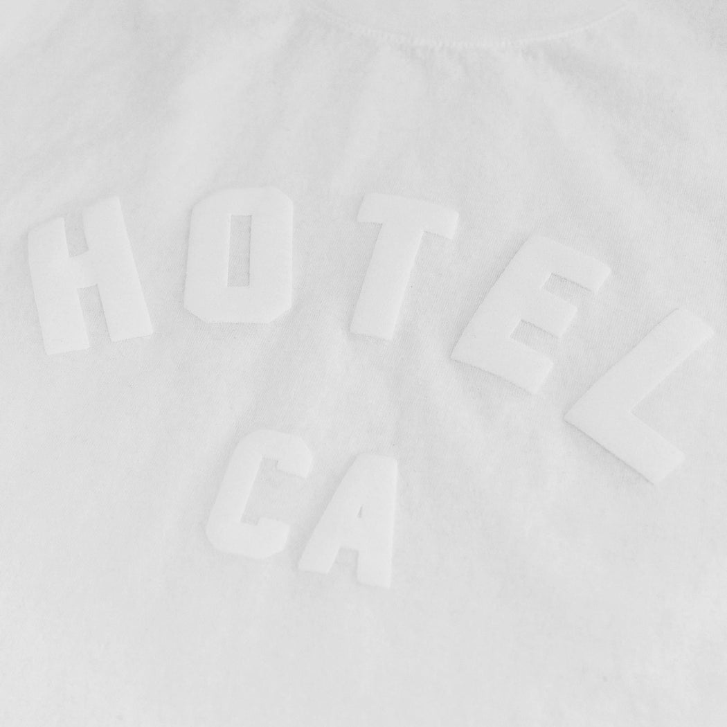 HOTEL OVERSIZED CROP T-SHIRT - WHITE
