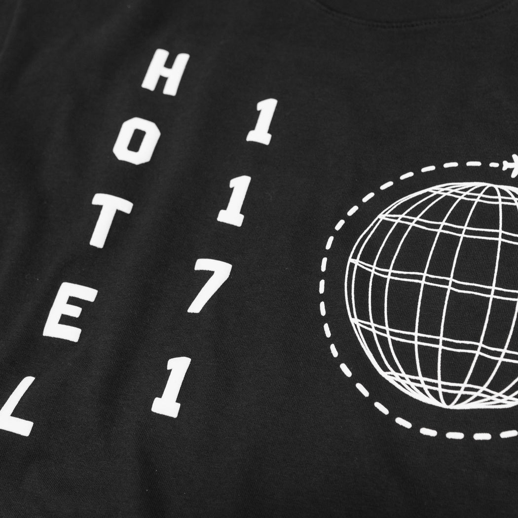 HOTEL GLOBAL T-SHIRT - BLACK/WHITE