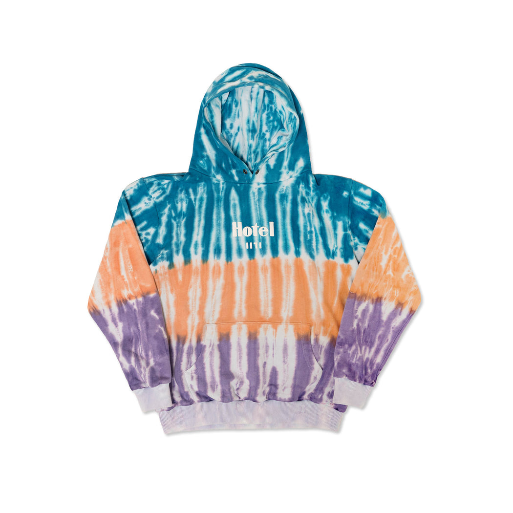SUNSET HOODED SWEATSHIRT - TIE DYE