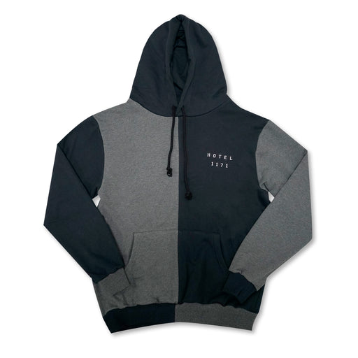 Coastal French Terry Hoodie - Navy/Charcoal