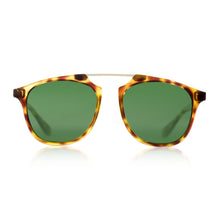 Flare Eyewear round sunglasses with green lenses and tortoise vintage frame vintage