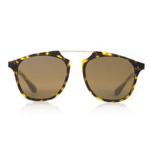 Flare Eyewear round sunglasses with brown lenses and tortoise vintage frame