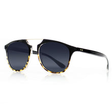 Flare Eyewear round sunglasses with black lenses and black vintage frame