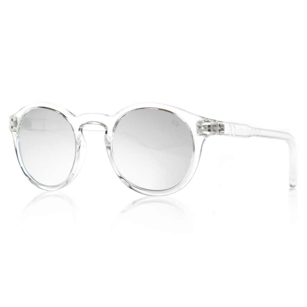 Transparent round sunglasses
