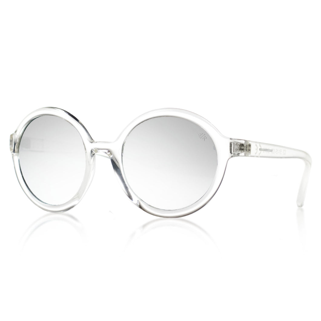 light designer sunglasses with mirror lenses