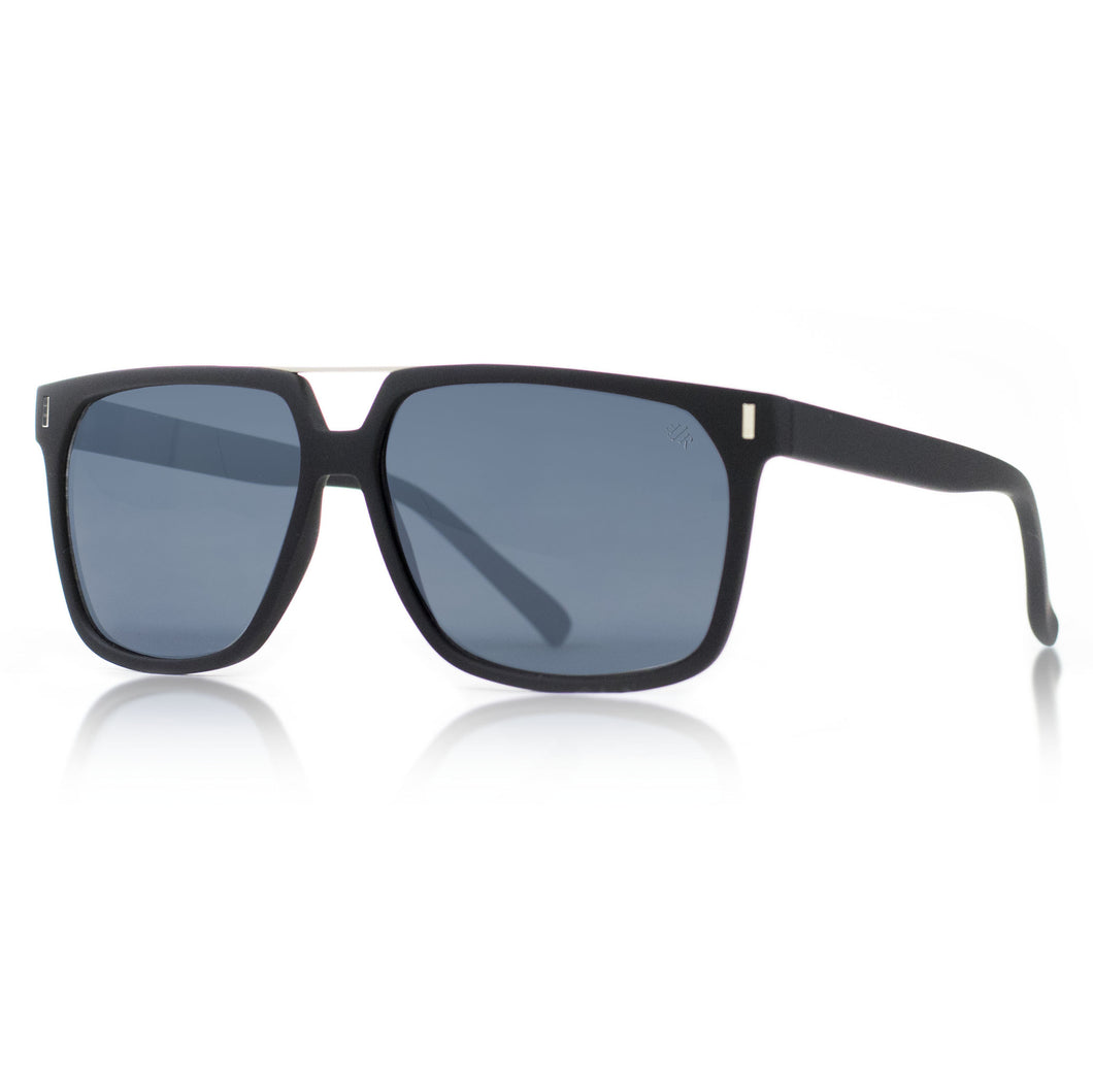 squared matte black sunglasses by Flare Eyewear