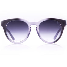 cat eye violet sunglasses with gradient lenses made in Italy
