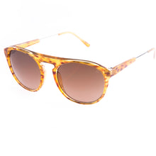 classic designer sunglasses with amber frame by Flare  Eyewear