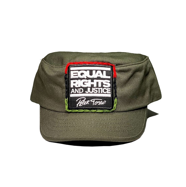 """JUSTICE"" EQUAL RIGHTS AND JUSTICE - RBG Green Army Cap"