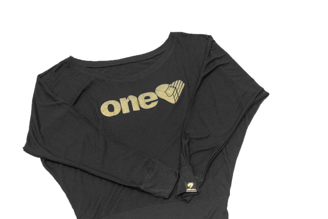 ONE LOVE Off The Shoulder Long Sleeve T Shirt