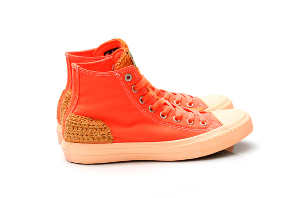 Custom Crochet (Size 8) Converse Highs - Orange