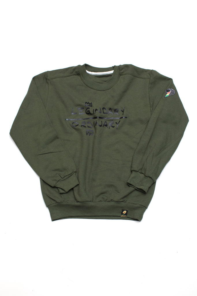 Legindary Over Ordinary - Army Crewneck Sweater