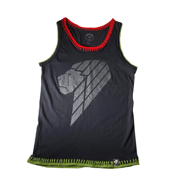 """UPLIFTED"" COLLECTION - BLACK CUSTOM CROCHET LK TANK"