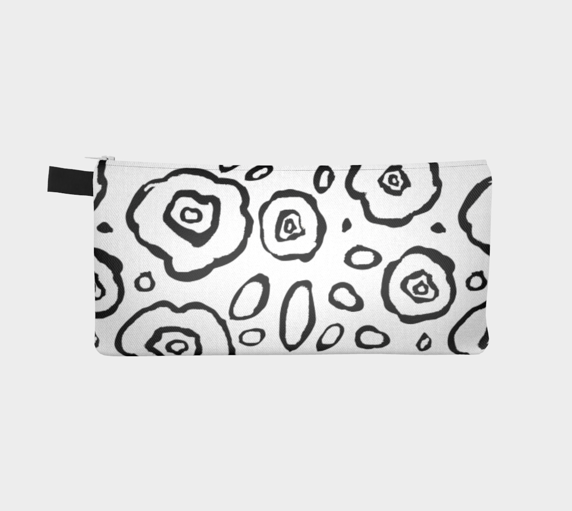 Doodle Floral Pencil Case - Artified Apparel