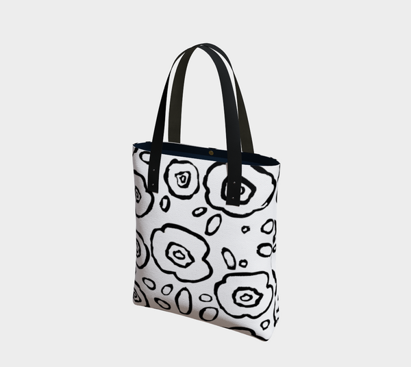 Doodle Floral Tote - Artified Apparel