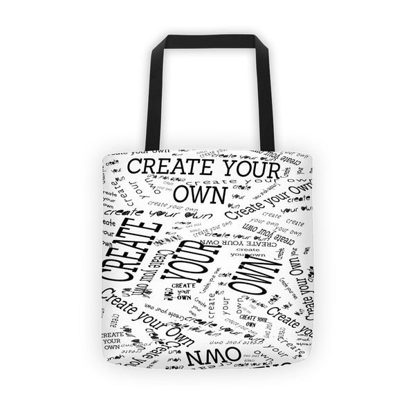 Create Your Own All Over Tote Bag - Artified Apparel