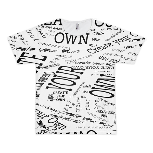 Create Your Own Men's T-shirt (unisex) - Artified Apparel
